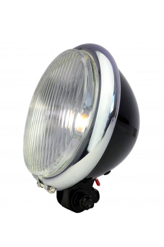 Fourche avant de v/élo vintage Bullet Phare LED Noir Sliver